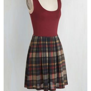 Red Plaid Tank Top Dress from ModCloth